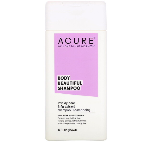 Acure, Body Beautiful Shampoo, Prickly Pear & Fig Extract, 12 fl oz (354 ml)