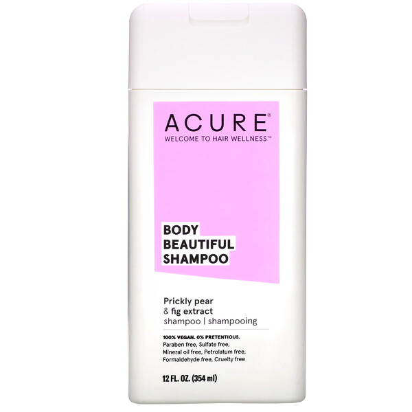 Acure, Body Beautiful Shampoo, Prickly Pear & Fig Extract, 12 fl oz (354 ml) (Discontinued Item)
