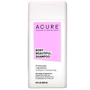 Акьюр Органикс, Body Beautiful Shampoo, Prickly Pear & Fig Extract, 12 fl oz (354 ml) отзывы покупателей