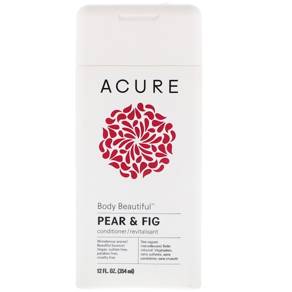 品牌從A - ZAcure類別沐浴露及個人護理護髮護髮乳:Acure, Body Beautiful Conditioner, Pear & Fig, 12 fl oz (354 ml)