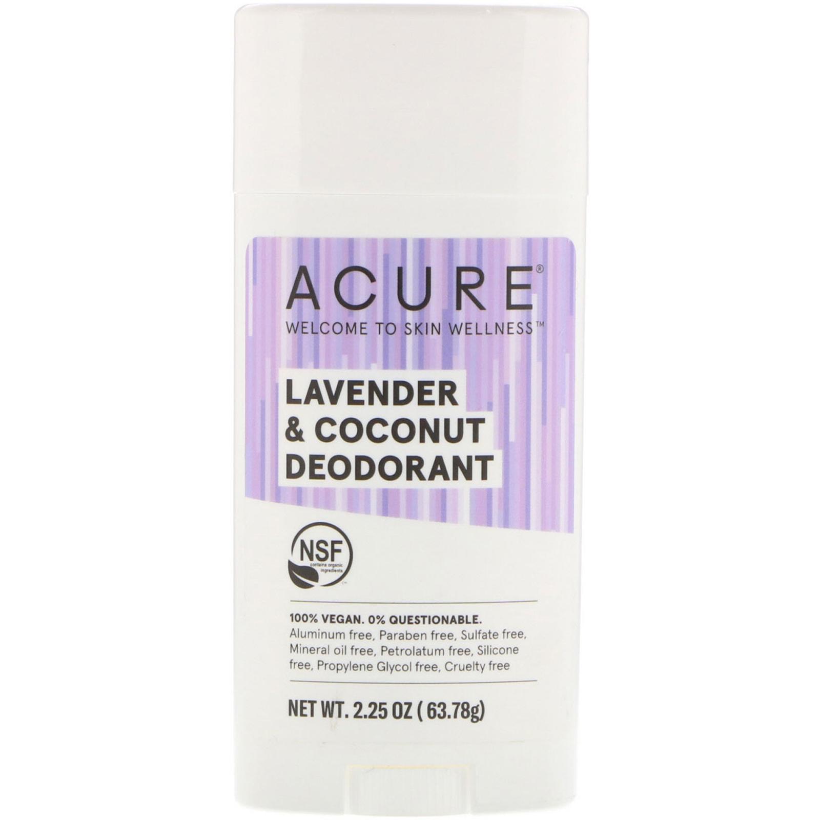 Acure Deodorant Lavender Coconut 2 25 Oz 63 78 G
