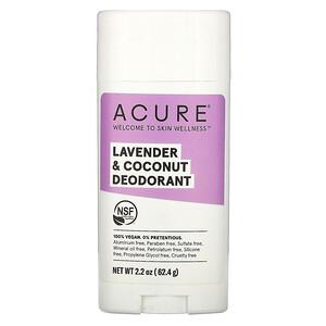 Акьюр Органикс, Deodorant, Lavender & Coconut, 2.2 oz (62.4 g) отзывы покупателей