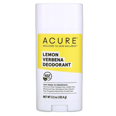 Acure Дезодорант, лимонная вербена, 63, 78 г (2, 25 унции)  - купить со скидкой
