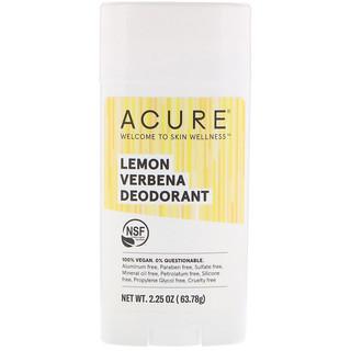 Acure, Deodorant, Lemon Verbena, 2.25 oz (63.78 g)
