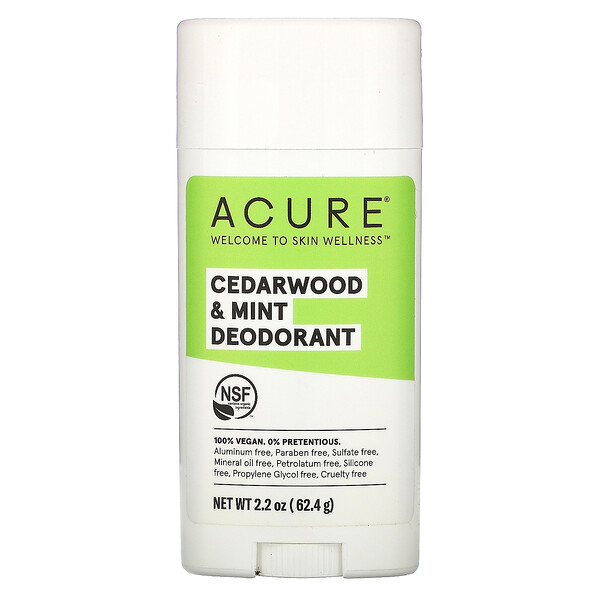 Acure, Deodorant, Cedarwood & Mint, 2.2 oz (62.4 g) (Discontinued Item)