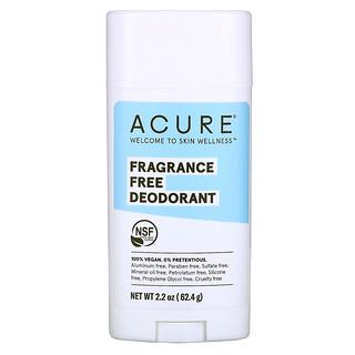 Acure, Deodorant, Fragrance Free, 2.2 oz (62.4 g)
