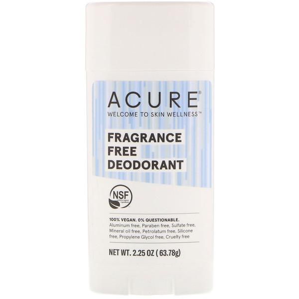 Deodorant, Fragrance Free, 2.25 oz (63.78 g)