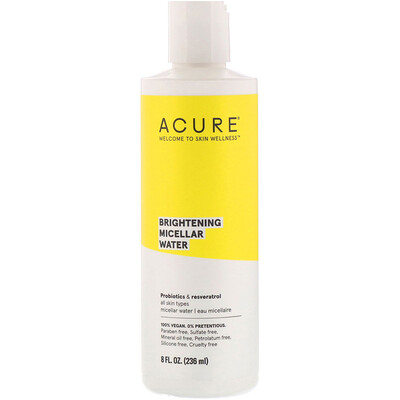 Acure Осветление с блеском, мицеллярная вода, 236 мл  - купить со скидкой