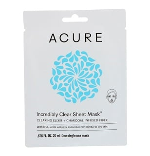 Acure Organics, Incredibly Clear Sheet Mask, 1 Single Use Mask, 0.676 fl oz (20 ml)