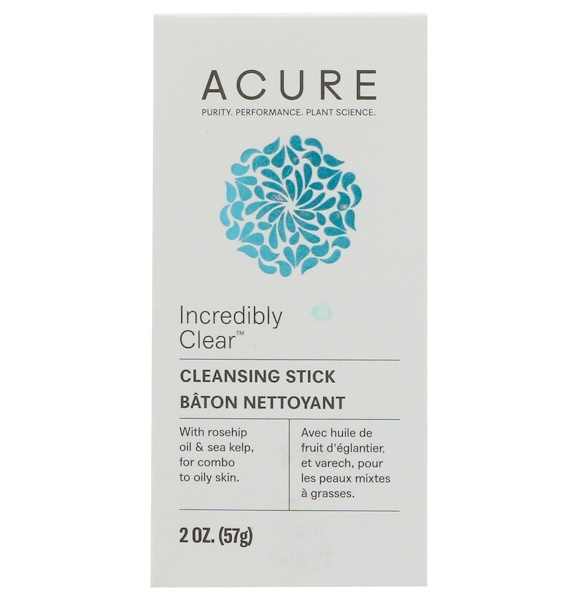 Acure, Bâton nettoyant Incredibly Clear, 57 g (2 oz) (Discontinued Item)