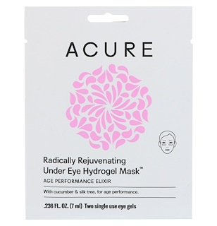 Acure Organics, Radically Rejuvenating Under Eye Hydrogel Mask, 2 Single Use Eye Gels, 0.236 fl oz (7 ml)