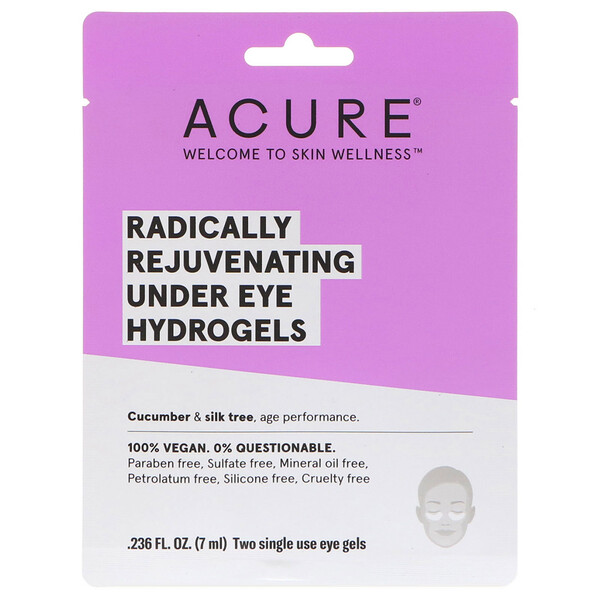 Radically Rejuvenating Under Eye Hydrogels Mask, 2 Single Use Eye Gels, 0.236 fl oz (7 ml)