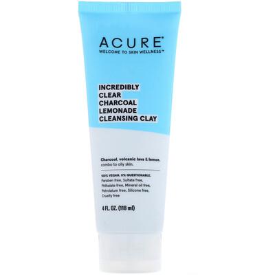 Купить Acure Невероятное очищение, очищающая глина с активированным углем и лимоном, 4 ж. унц. (118 мл)