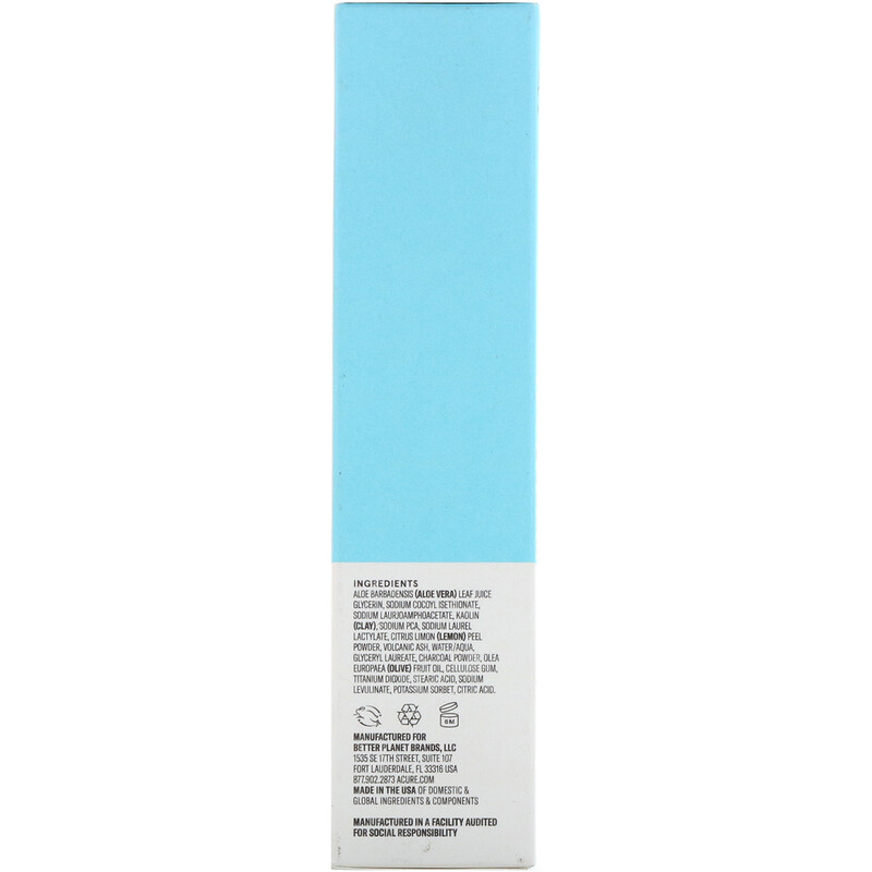 Acure, Incredibly Clear Charcoal Lemonade Cleansing Clay, 4 fl oz (118 ml) - photo 2