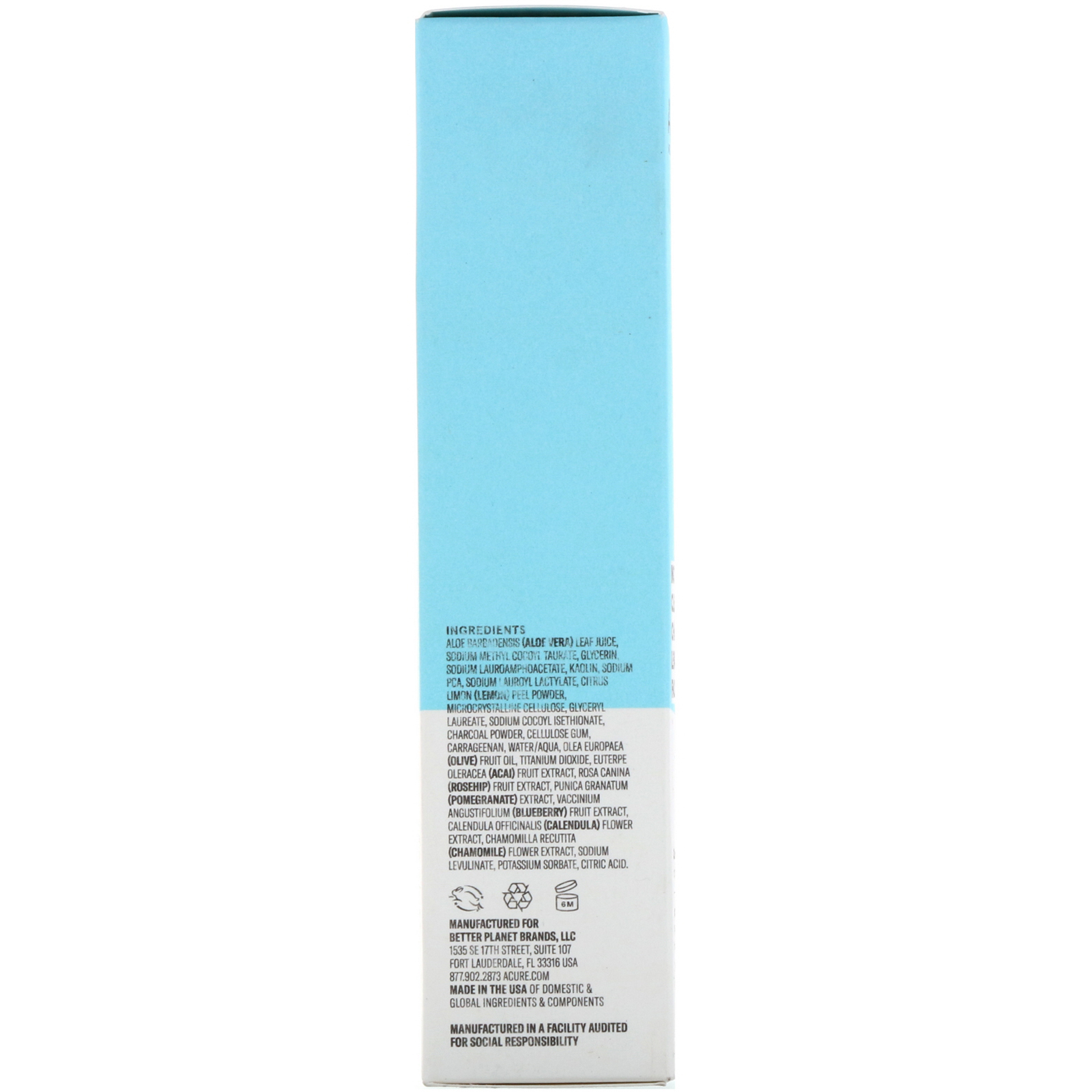 Acure, Incredibly Clear Charcoal Lemonade Facial Scrub, 4