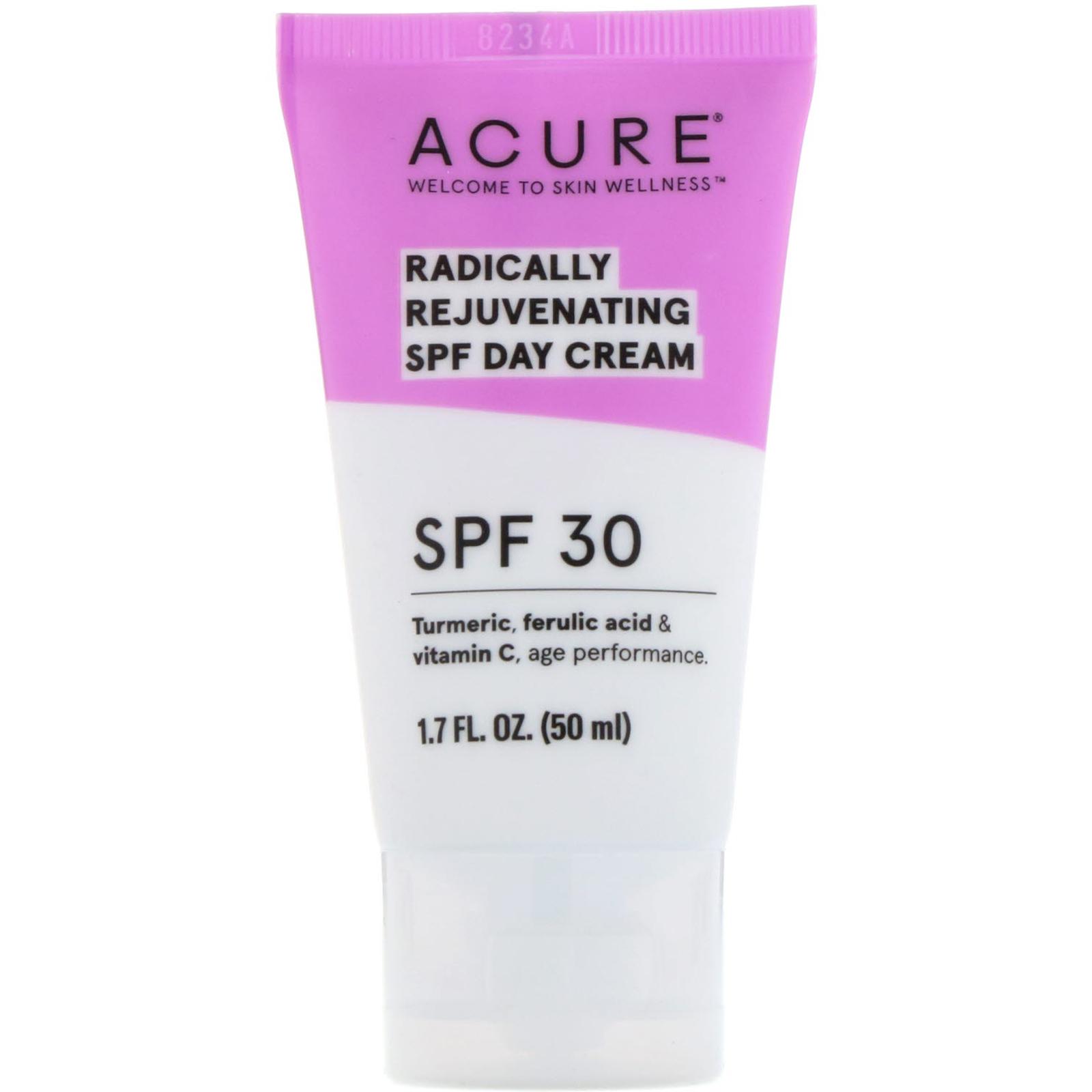 Acure Radically Rejuvenating Day Cream SPF 30 1 7 Fl Oz 50