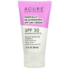 Acure, 透徹煥活日霜,SPF 30,1.7 液量盎司(50 毫升)