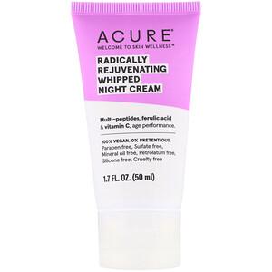 Акьюр Органикс, Radically Rejuvenating Whipped Night Cream, 1.7 fl oz (50 ml) отзывы покупателей