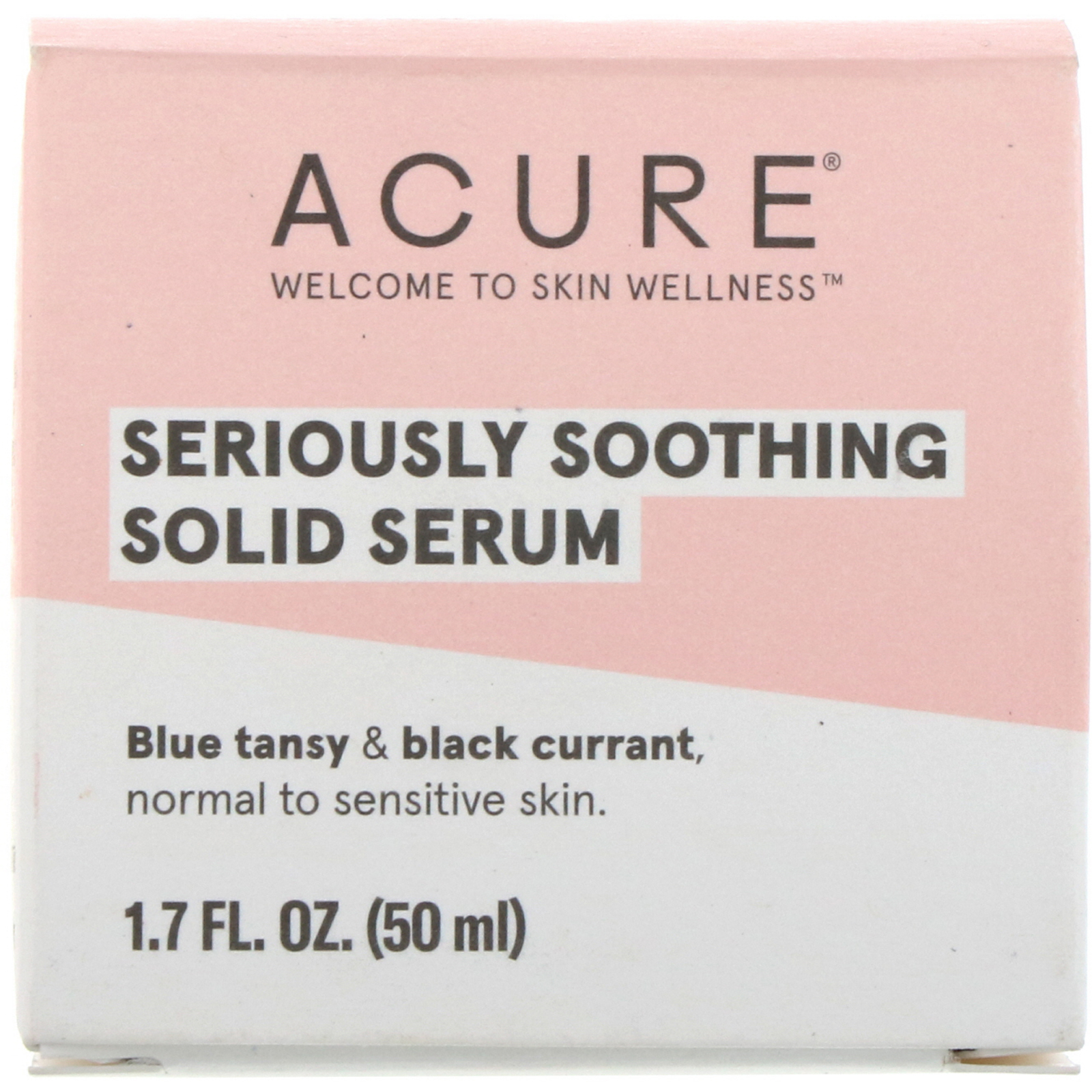 Acure Seriously Soothing Solid Serum 1 7 Fl Oz 50 Ml