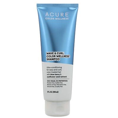 Купить Acure Wave & Curl Color Wellness, шампунь для волнистых и кучерявых волос, 236мл (8жидк.унций)