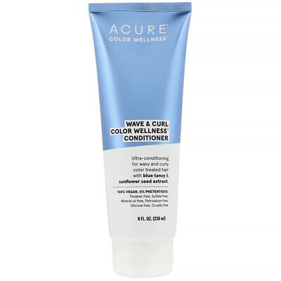Купить Acure Wave & Curl Color Wellness, кондиционер для волнистых и кучерявых волос, 236мл (8жидк.унций)
