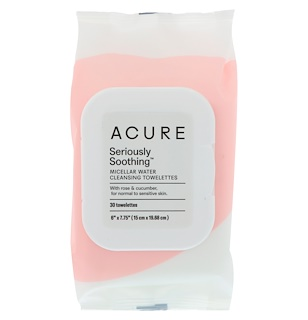 Acure, Seriously Soothing Micellar Water Cleansing Towelettes, 30 Towelettes