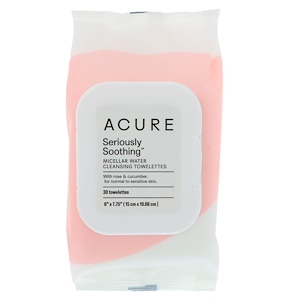 Акьюр Органикс, Seriously Soothing Micellar Water Cleansing Towelettes, 30 Towelettes отзывы