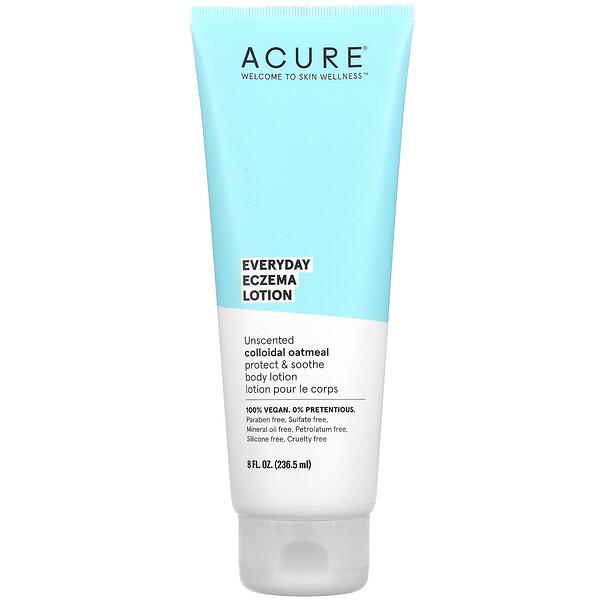 Acure, лосьон для лечения экземы, для ежедневного применения, без запаха, 236,5мл (8жидк. унций)