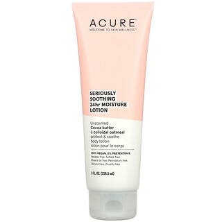 Acure, Seriously Soothing 24hr Moisture Lotion, Unscented, 8 fl oz (236.5 ml)