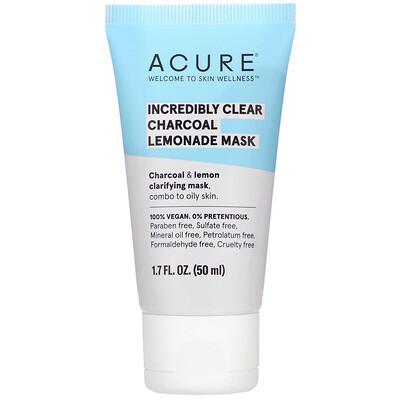 Купить Acure Incredibly Clear Charcoal Lemonade Mask, 1.7 fl oz (50 ml)