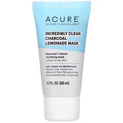 Acure, 透明木炭檸檬美容面膜,1.7 盎司(50 毫升)