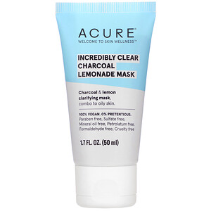 Акьюр Органикс, Incredibly Clear Charcoal Lemonade Mask, 1.7 fl oz (50 ml) отзывы