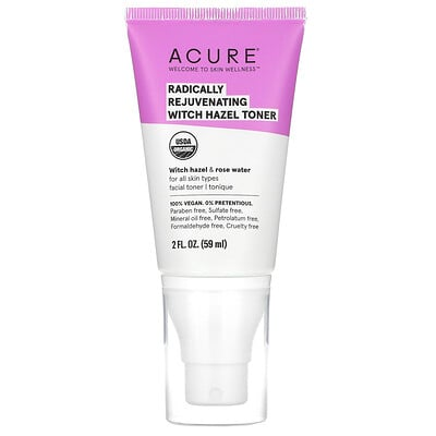 Купить Acure Radically Rejuvenating, Witch Hazel Toner, 2 fl oz (59 ml)