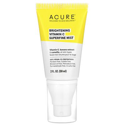Acure Brightening Vitamin C Superfine Mist, 2 fl oz (59 ml)