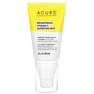 Acure, Brightening Vitamin C Superfine Mist, 2 fl oz (59 ml)