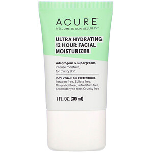 Acure, Ultra Hydrating 12 Hour Facial Moisturizer, 1 fl oz (30 ml)