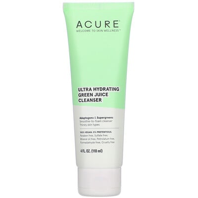 Acure Ultra Hydrating Green Juice Cleanser, 4 fl oz (118 ml)