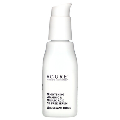 Купить Acure Brightening Vitamin C & Ferulic Acid Oil Free Serum, 1 fl oz (30 ml)
