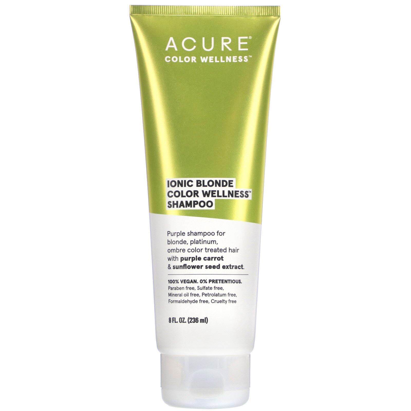 Acure, Ionic Blonde Color Wellness Shampoo, 8 Fl Oz (236