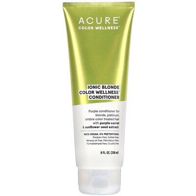 Acure Ionic Blonde Color Wellness Conditioner, 8 fl oz (236 ml)