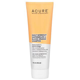 Acure, 西瓜血橙洗发水,适用于日常运动训练后洗发,8 液量盎司(236.5 毫升)
