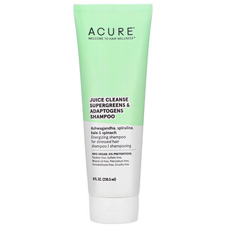 Acure, Juice Cleanse Supergreens & Adaptogens Shampoo, 8 fl oz (236.5 ml)