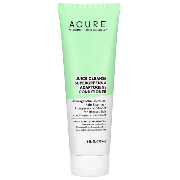 Acure, Juice Cleanse Supergreens & Adaptogens Conditioner, 8 fl oz (236.5 ml)