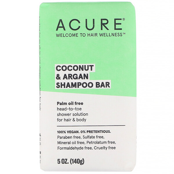 Coconut & Argan Shampoo Bar, 5 oz (140 g)