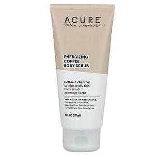 Acure, Energizing Coffee Body Scrub, 6 fl oz (177 ml)