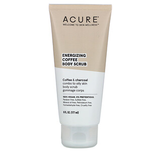 Acure, Energizing Coffee Body Scrub, 6 fl oz (177 ml)