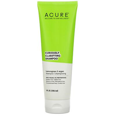 Купить Acure Curiously Clarifying Shampoo, Lemongrass & Argan, 8 fl oz (236.5 ml)