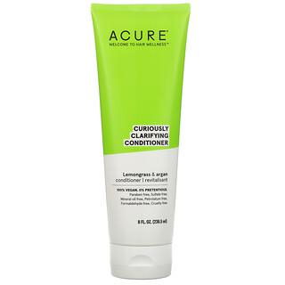 Acure, Curiously Clarifying Conditioner, Lemongrass & Argan, 8 fl oz (236.5 ml)