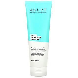 Acure, Simply Smoothing 柔顺洗发水,椰子和马鲁拉油,8 液量盎司(236.5 毫升)