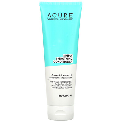 Купить Acure Simply Smoothing Conditioner, Coconut & Marula Oil, 8 fl oz (236.5 ml)